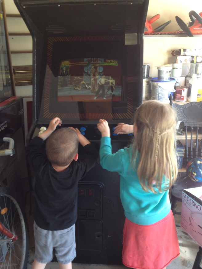 Yes, I allow my kids to play this game - they think it's hilarious!